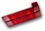 Achterlicht glas 75 (rood) rechts