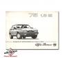 Alfa Romeo 75 1.8 IE instructieboekje bijlage