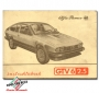 Alfa Romeo GTV 6 instructieboekje 1984
