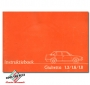 Alfa Romeo Giulietta 116 instructieboekje