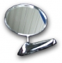 Rearview mirror round chrome