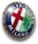 Embleem Alfa Romeo Milano (ge-emailleerd)