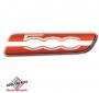 FIAT 500 badge zijkant Rosso
