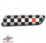 FIAT 500 badge zijkant Scacchi Neri