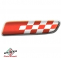 FIAT 500 badge zijkant Sport Rosso Fondo Bianco