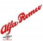 Sticker Alfa Romeo script rood 60x315mm