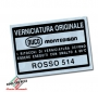 Sticker Kleurcode Rosso 514