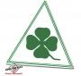 Sticker Quadrifoglio Verde (groene omranding)